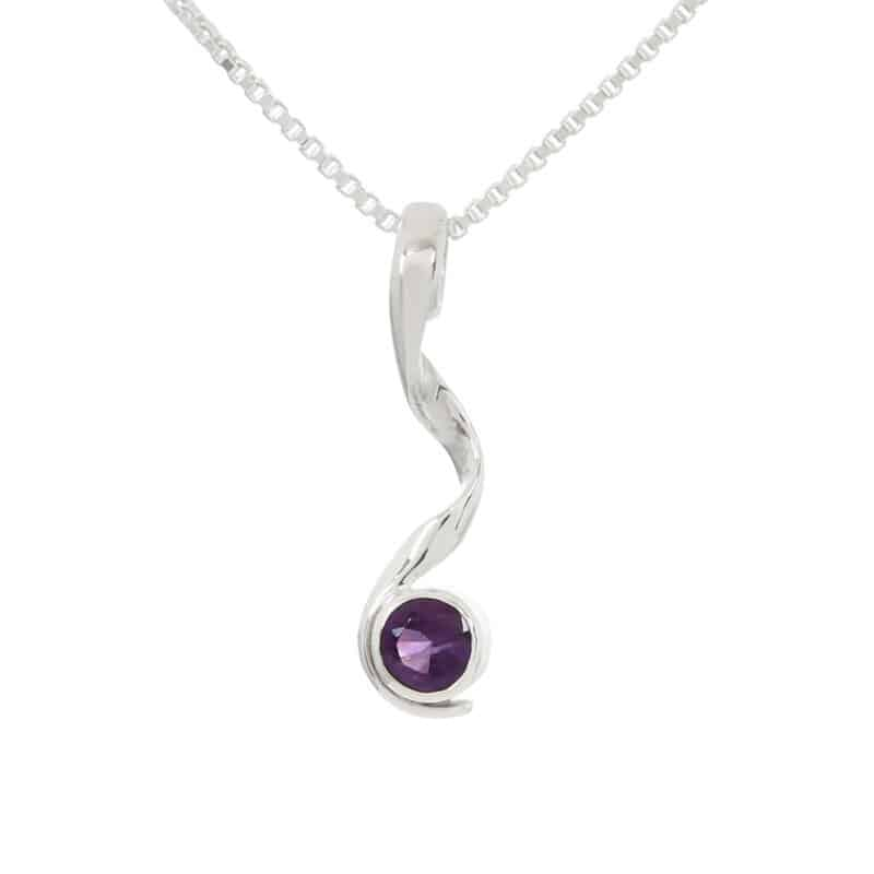 Amethyst Pirouette Necklace 2
