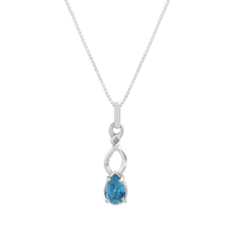Blue Topaz Twist Necklace