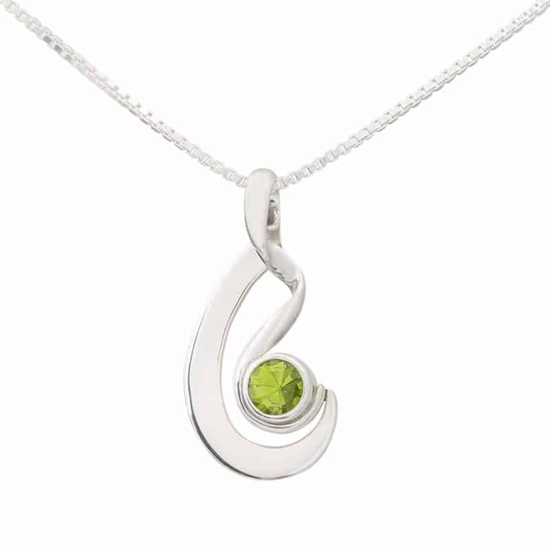 Peridot Pirouette Necklace