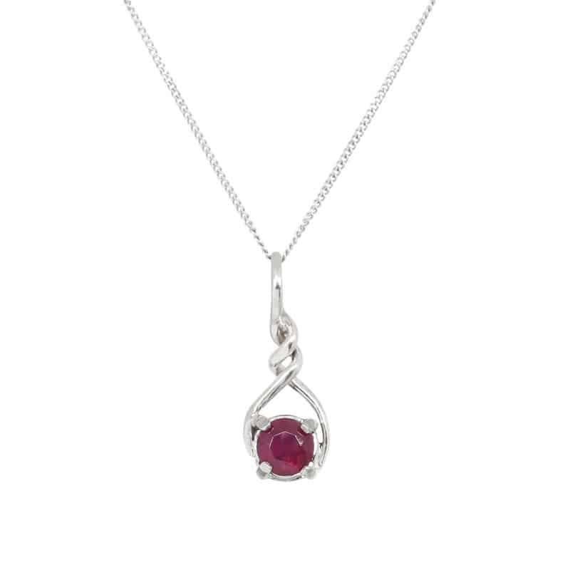 Ruby Twist Necklace 1