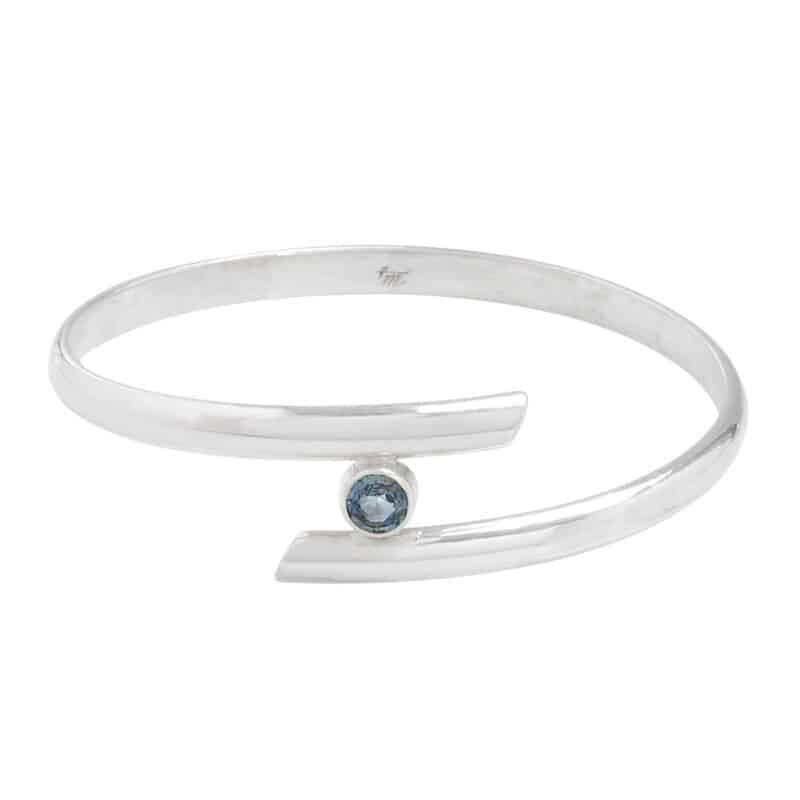 Blue Sapphire Crossover Bangle