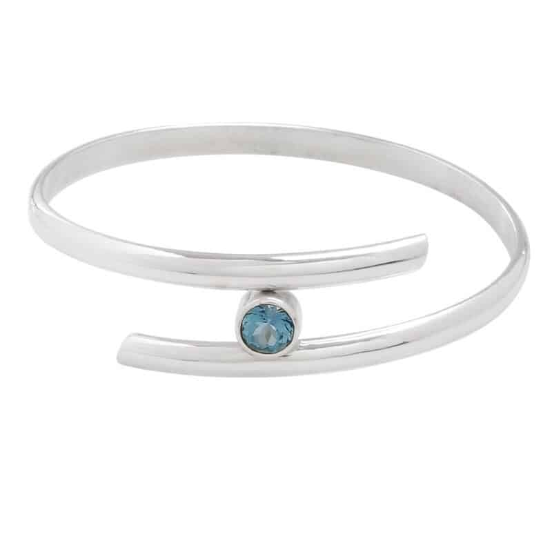 Blue Topaz Crossover Bangle