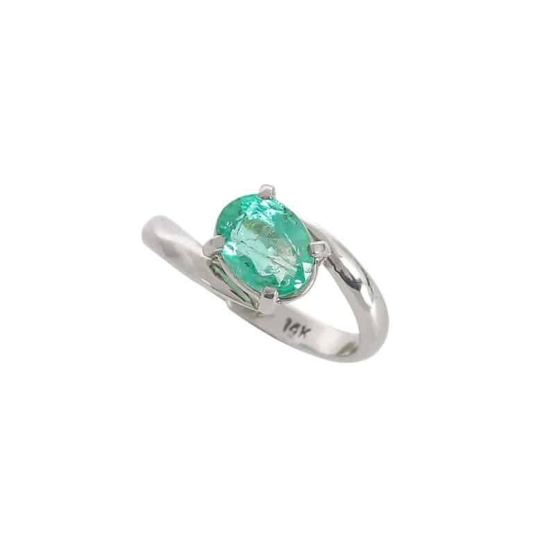 Graceful Simplicity Emerald Ring 1