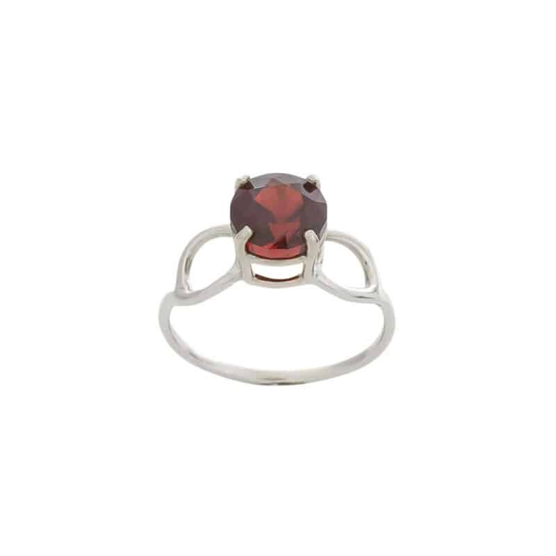Graceful Simplicity Garnet Ring 2
