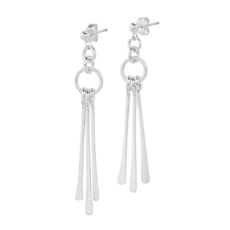 Movement Earrings Fine Silver